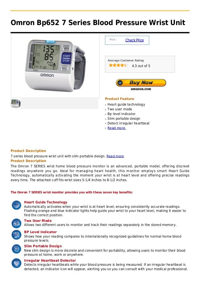 Omron Bp652 7 Series Blood Pressure Wrist Unit                                                                 Price :    ...