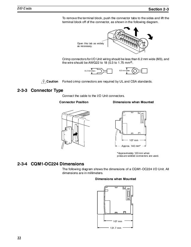 Omron PLC cqm1 opearation manual on