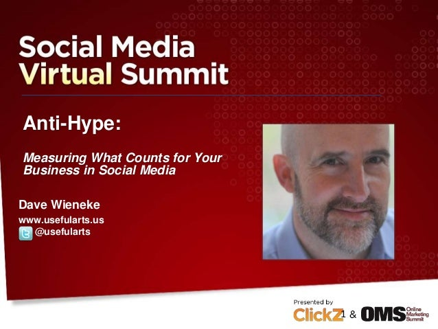 Anti-Hype: Measuring What Counts for Your Business in Social Media Dave Wieneke www.usefularts.us @usefularts 1