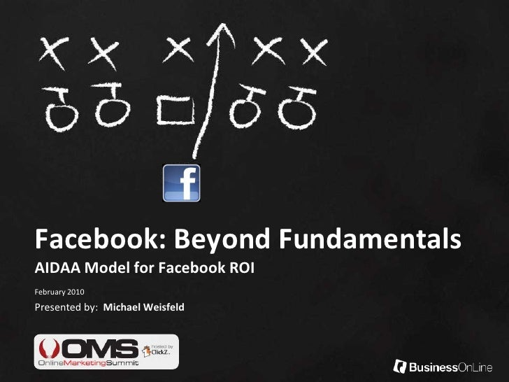 Facebook: Beyond FundamentalsAIDAA Model for Facebook ROI<br />February 2010<br />Presented by:  Michael Weisfeld<br />