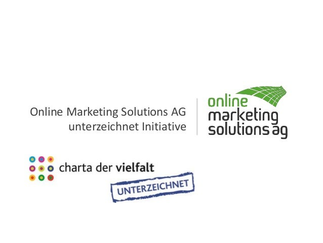 Online Marketing Solutions AG unterzeichnet Initiative