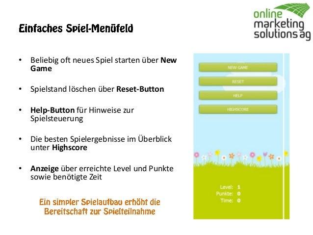 Spiele-App in Facebook: Beispiel OMSAG Oster-Tetris Slide 3