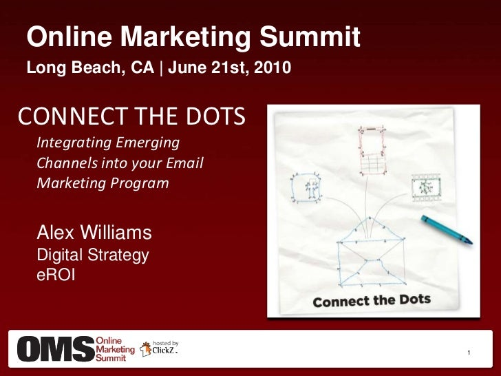 Online Marketing Summit<br />Long Beach, CA | June 21st, 2010<br />CONNECT THE DOTSIntegrating Emerging Channels into your...