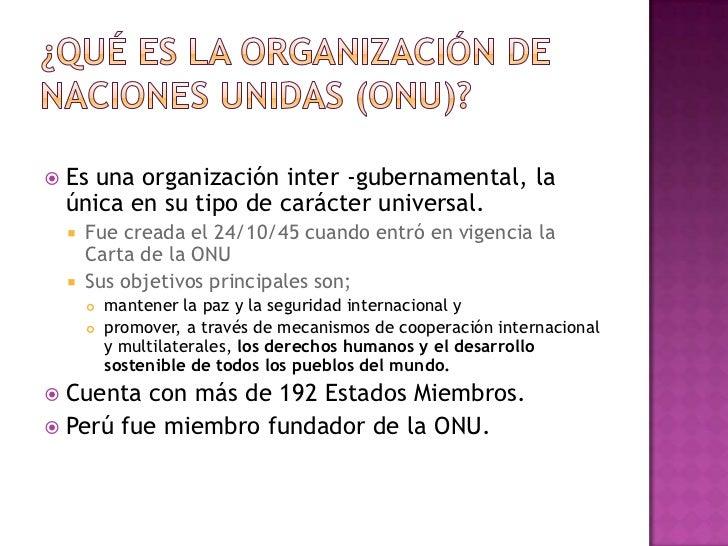 """Es una """"familia"""" de instituciones de la ONU: Se trata de mas de 30 organizaciones, entre los que  se cuentan:     9 fond..."""