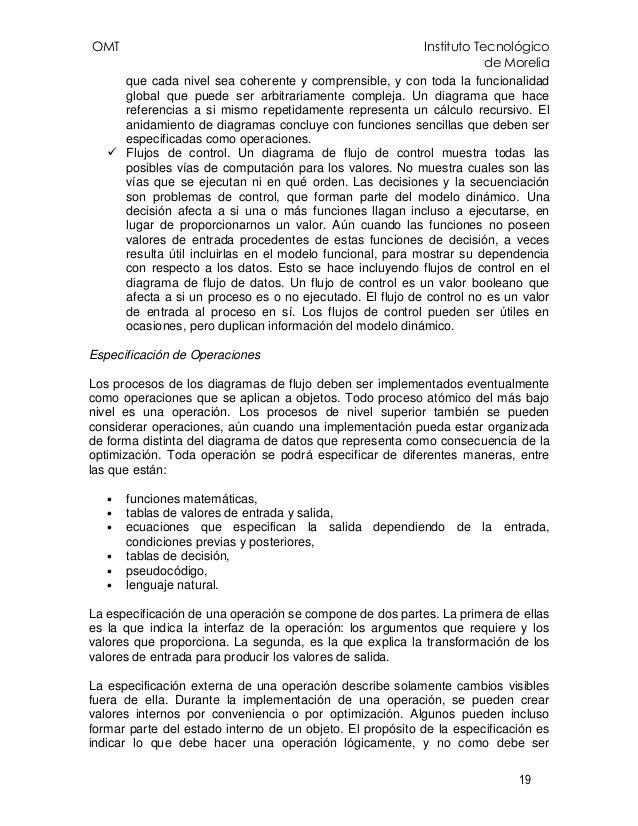 OMT Instituto Tecnológico de Morelia 19 que cada nivel sea coherente y comprensible, y con toda la funcionalidad global qu...