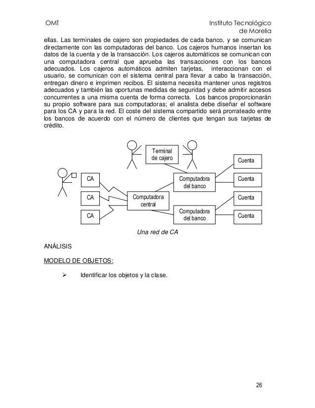 OMT Instituto Tecnológico de Morelia 26 ellas. Las terminales de cajero son propiedades de cada banco, y se comunican dire...