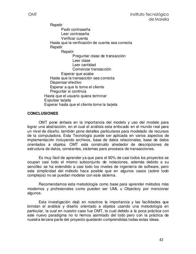 OMT Instituto Tecnológico de Morelia 43 Repetir Pedir contraseña Leer contraseña Verificar cuenta Hasta que la verificació...