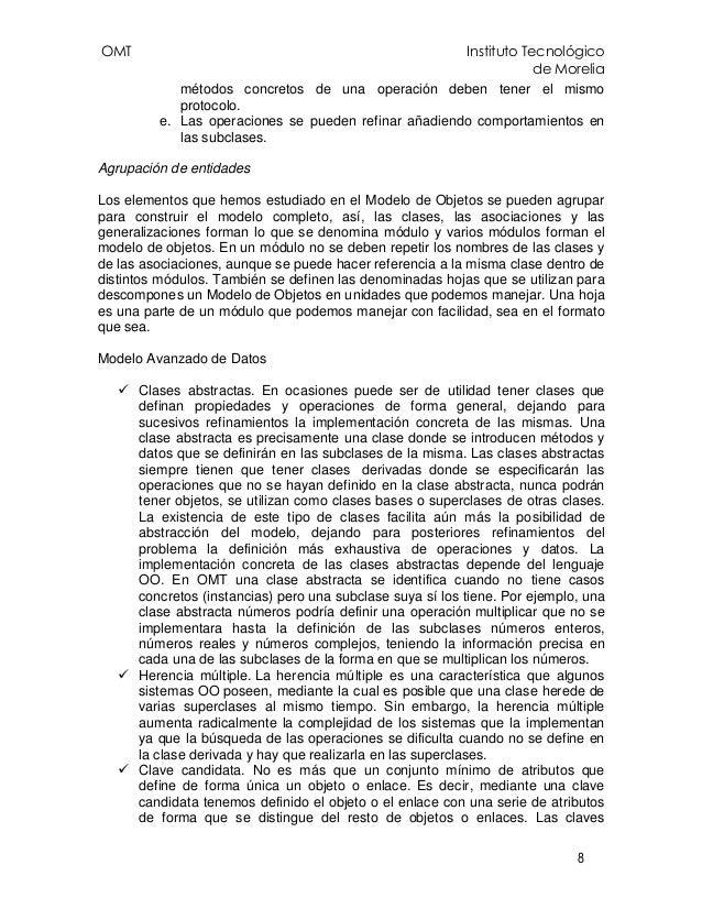 OMT Instituto Tecnológico de Morelia 8 métodos concretos de una operación deben tener el mismo protocolo. e. Las operacion...