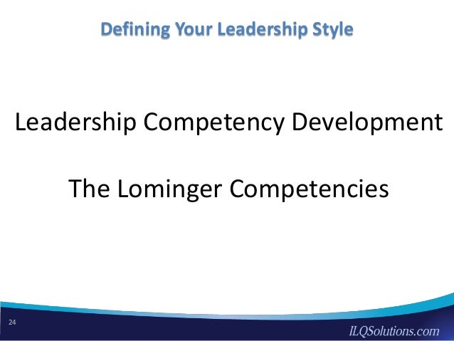 Developing your leadership styles