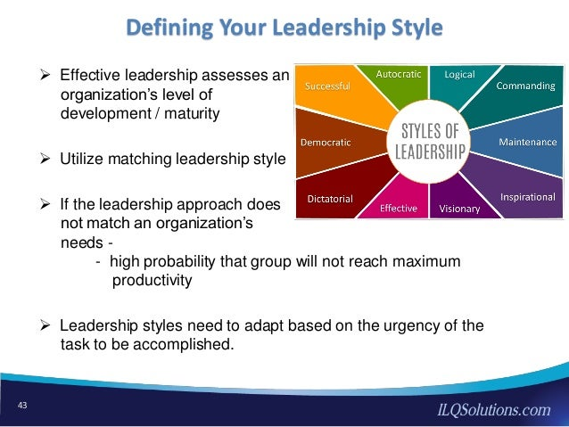 leadership styles adapting