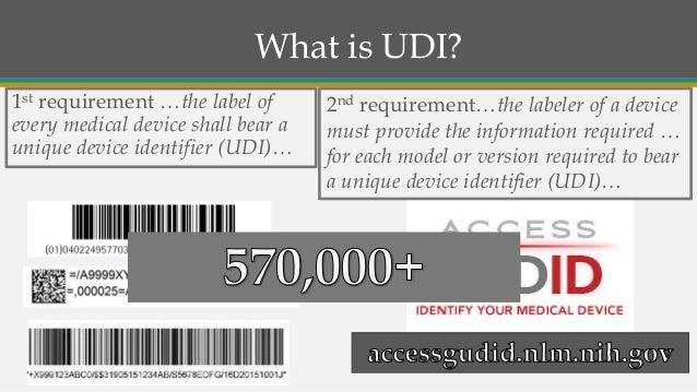 FDA Update and Q&A: UDI