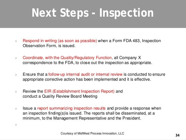 fda writing an effective 483 response timeline