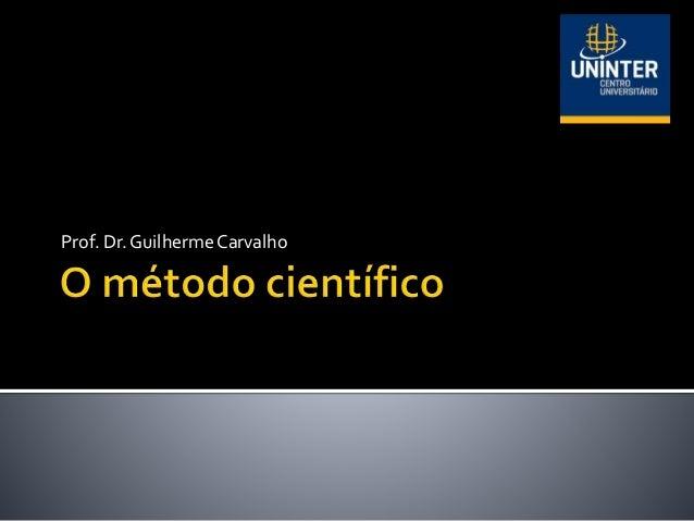 Prof. Dr. Guilherme Carvalho