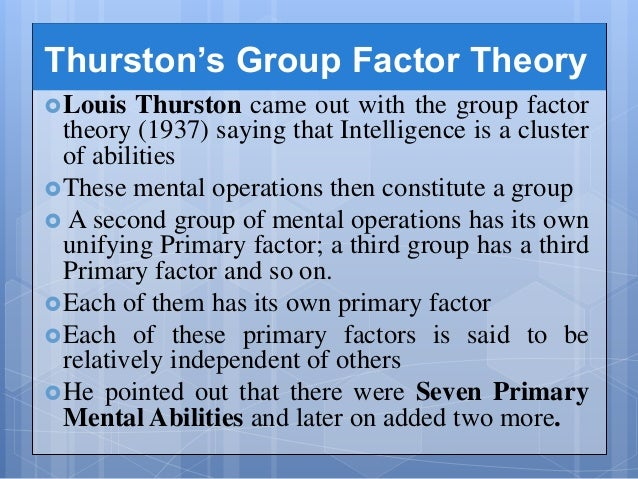 group factor theory
