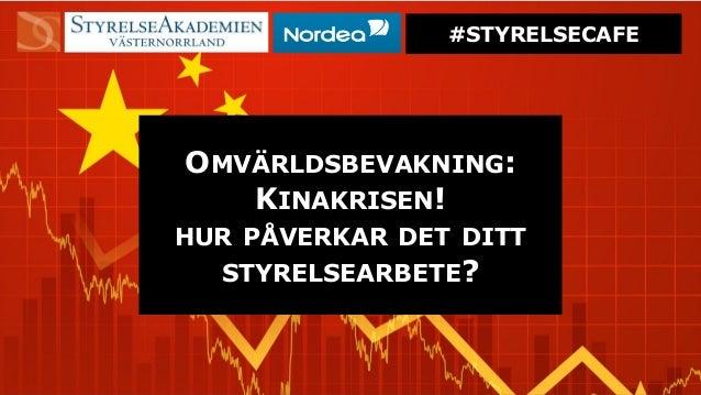 "# S T Y R E L S E C A F E –J O H N N Y A P P L E S E E D ""Type a quote here."" #STYRELSECAFE OMVÄRLDSBEVAKNING: KINAKRISEN!..."