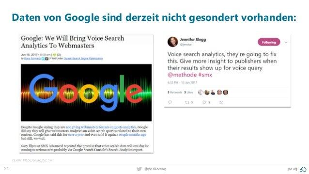 25 @peakaceag pa.ag Daten von Google sind derzeit nicht gesondert vorhanden: Quelle: http://pa.ag/2xC5jvl