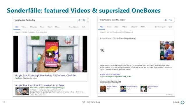 44 @peakaceag pa.ag Sonderfälle: featured Videos & supersized OneBoxes