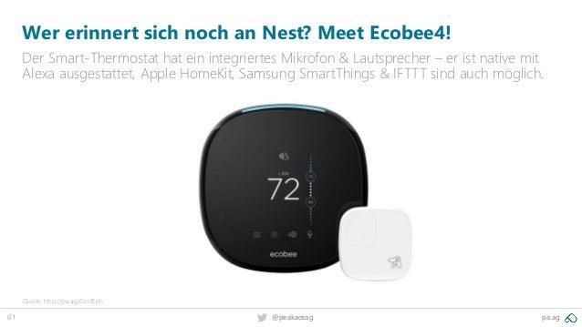 61 @peakaceag pa.ag Wer erinnert sich noch an Nest? Meet Ecobee4! Der Smart-Thermostat hat ein integriertes Mikrofon & Lau...
