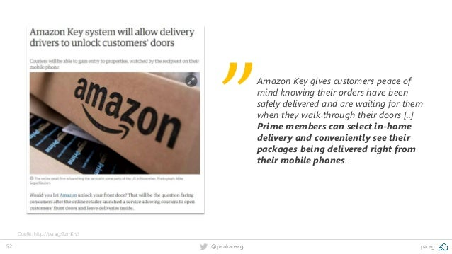 62 @peakaceag pa.ag Amazon Key gives customers peace of mind knowing their orders have been safely delivered and are waiti...