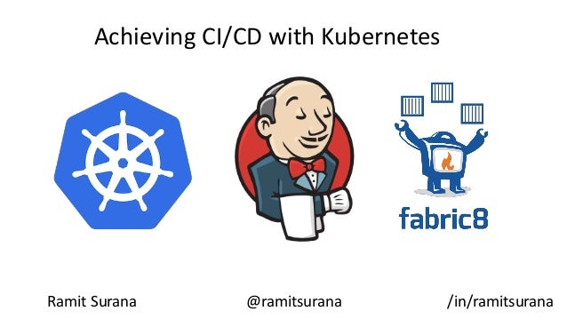 Achieving CI/CD with Kubernetes Ramit Surana @ramitsurana /in/ramitsurana