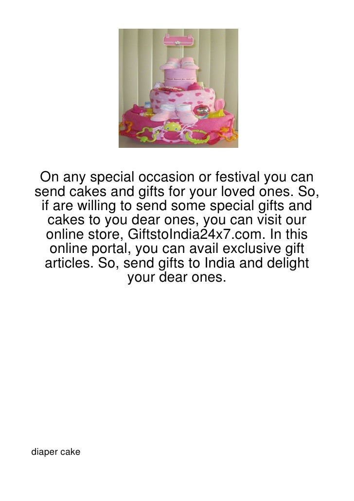 On any special occasion or festival you cansend cakes and gifts for your loved ones. So, if are willing to send some speci...
