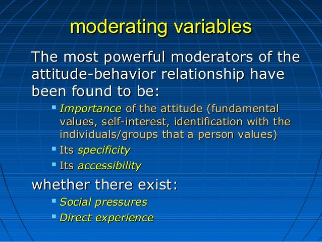 moderating variables of attitude and behaviour