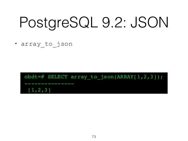 On Beyond (PostgreSQL) Data Types