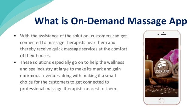  With the assistance of the solution, customers can get connected to massage therapists near them and thereby receive qui...