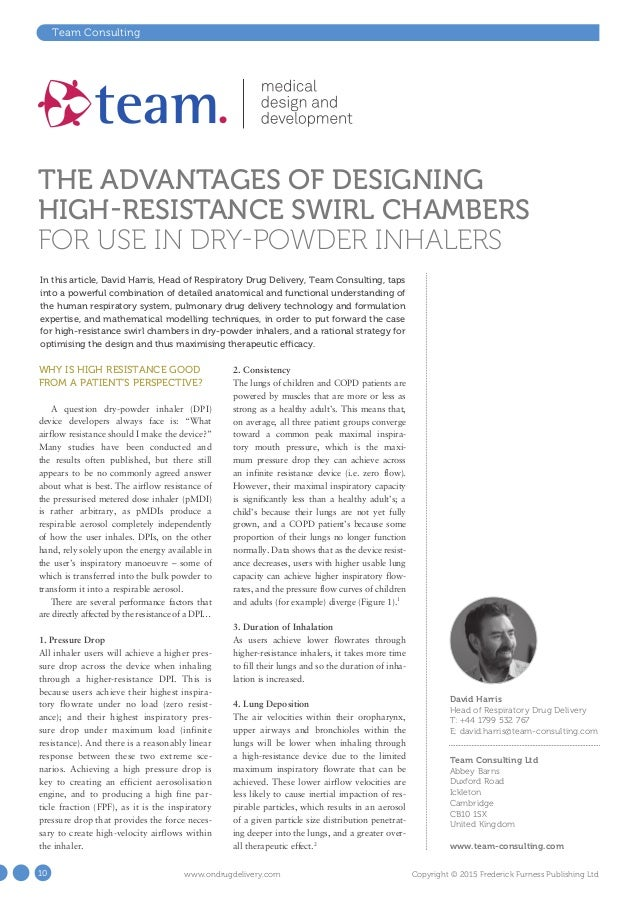 an overview of dry powder inhalers A dry-powder inhaler (dpi) is a device that delivers medication to the lungs in the  form of a dry powder dpis are commonly used to treat respiratory diseases.