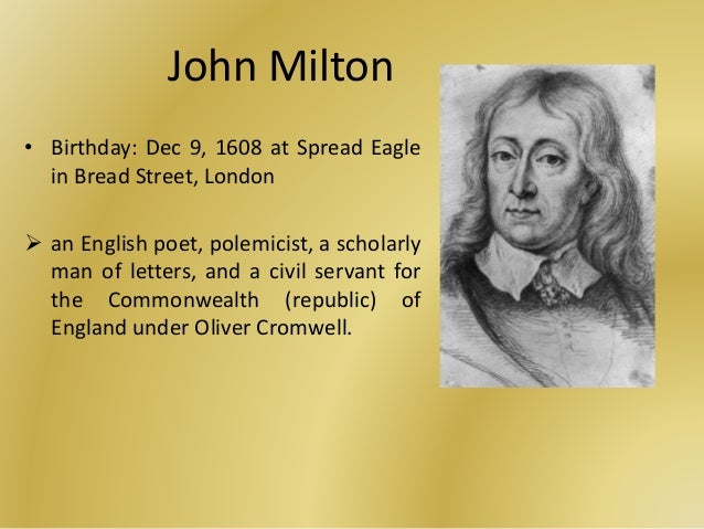 the symbolism and imagery in john miltons on his blindness on his blindness - john milton in conclusion milton used imagery such as metaphors and connotations to help us understand what he's.