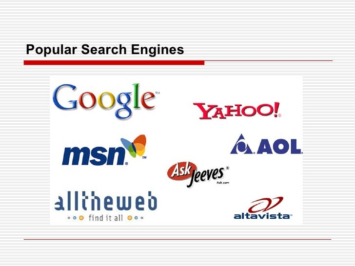 Popular Search Engines