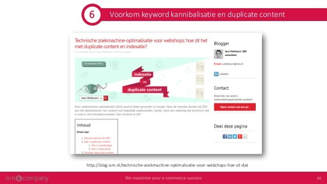 On page seo voor e-commerce