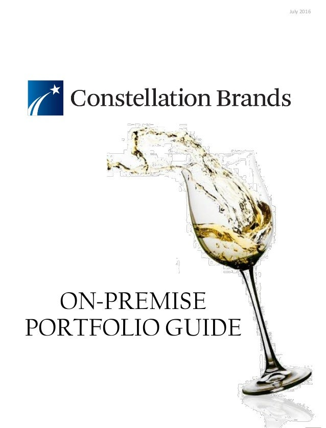 ON-PREMISE PORTFOLIO GUIDE July 2016