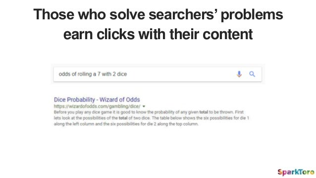 Those who solve searchers' problems earn clicks with their content