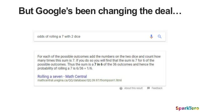 But Google's been changing the deal…