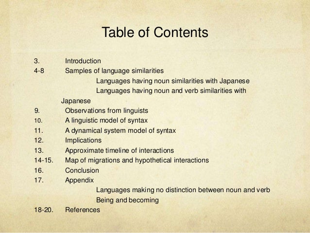 On Similarities Between Japanese and Other Languages Slide 2