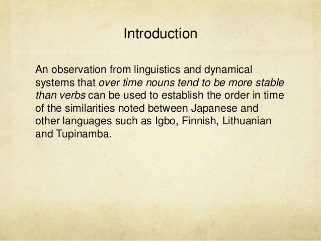 On Similarities Between Japanese and Other Languages Slide 3