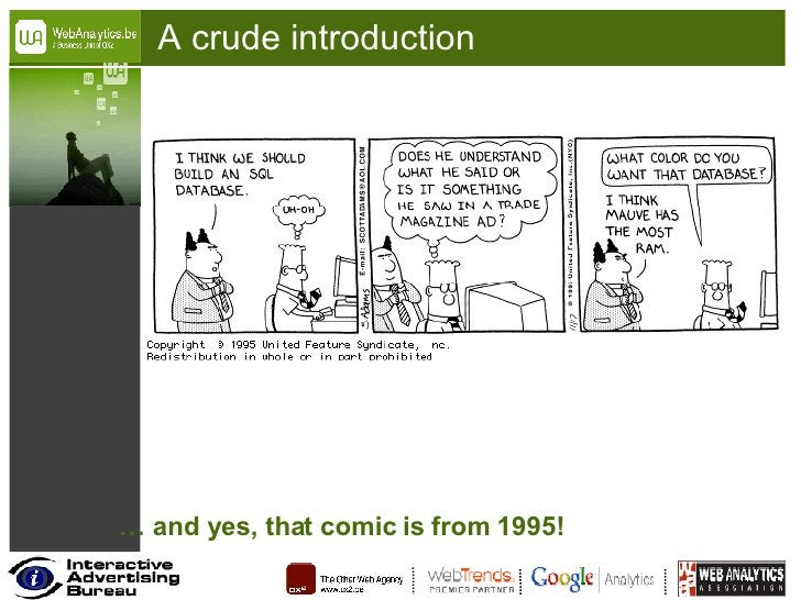 A crude introduction …  and yes, that comic is from 1995!