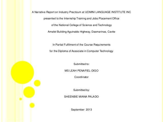 Training Report Travel Agency