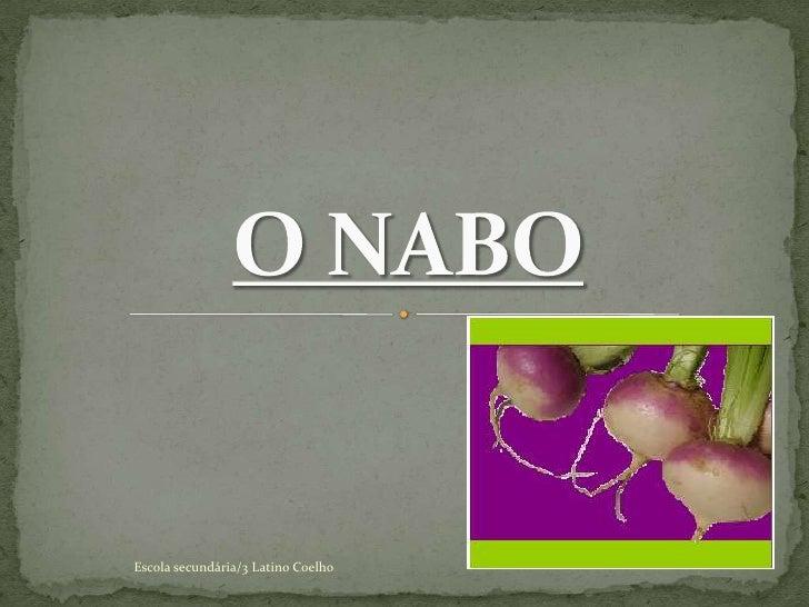 O NABO<br />Escola secundária/3 Latino Coelho<br />