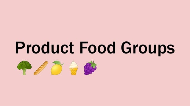 Product Food Groups 🥦🥖🍋🍦🍇