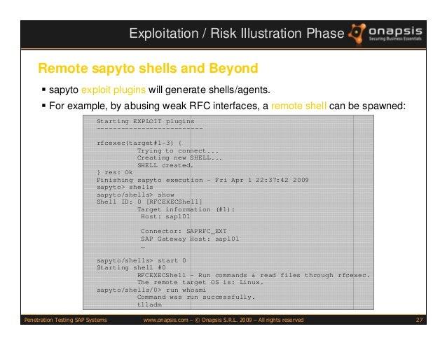 Penetration Testing SAP Systems