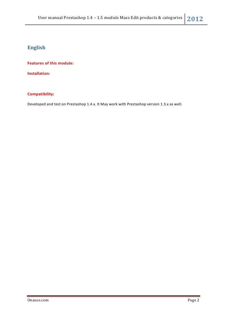 Onasus module prestashop mass editmanager Slide 2