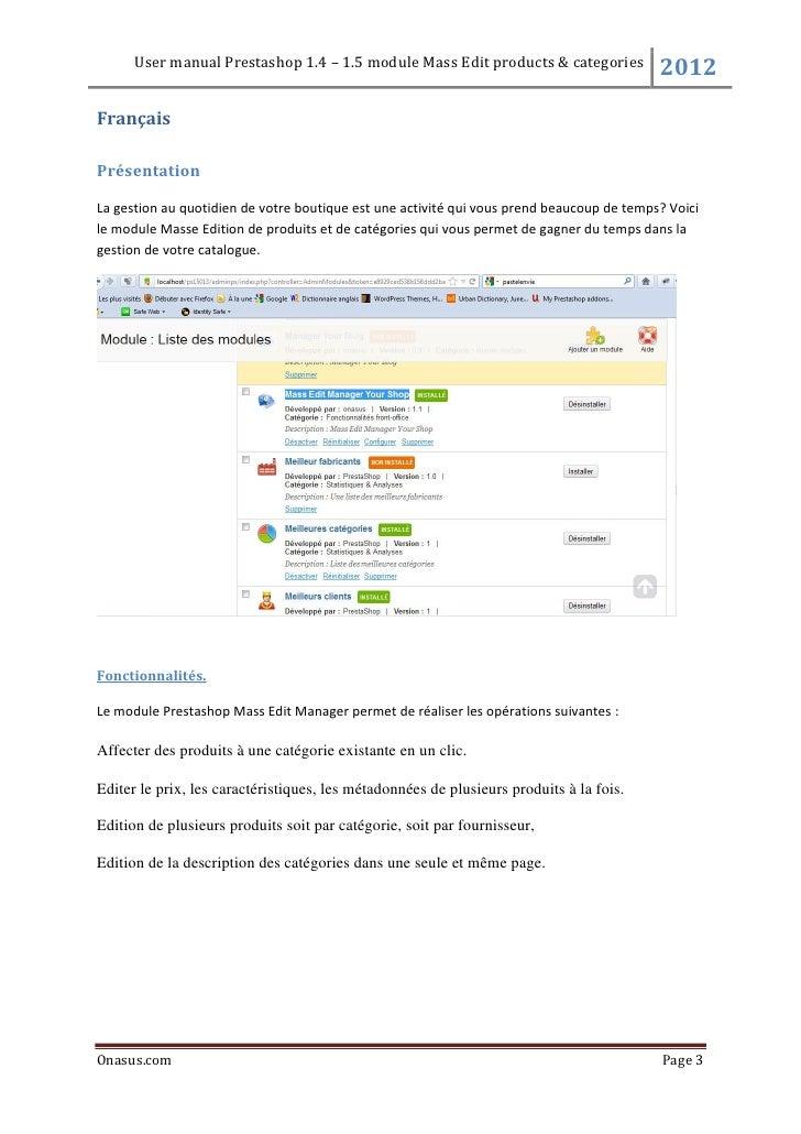 Onasus module prestashop mass editmanager Slide 3