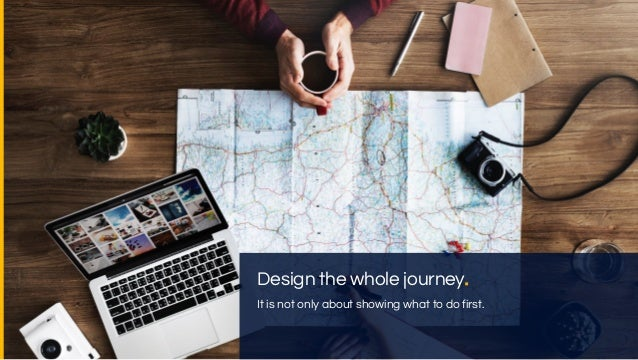 Design and experiment across their journey. What is the first thing you need to do when you start on Booking.com? Who is B...
