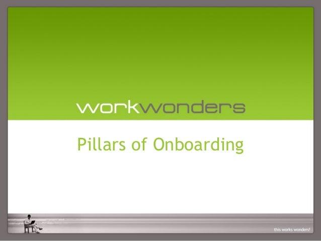 Pillars of Onboarding