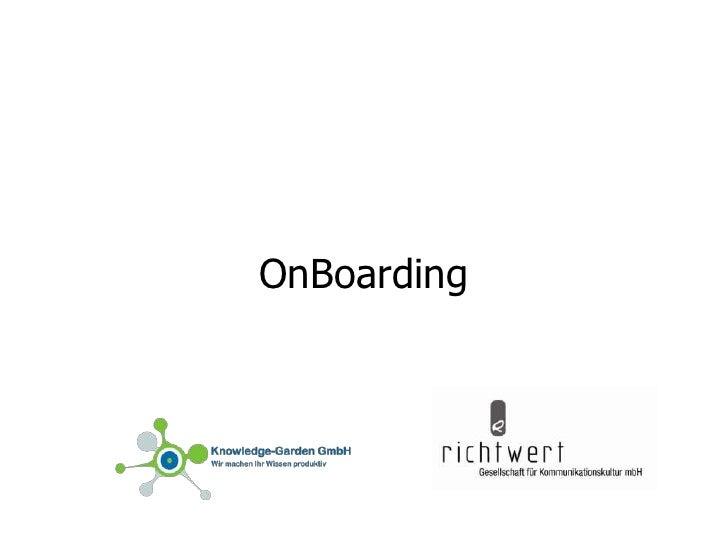 OnBoarding<br />