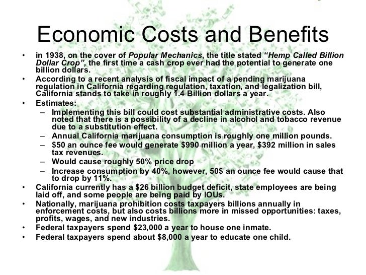economic benefits of marijuana A proponent of reform of marijuana laws points to the benefits that legalization has brought in colorado.