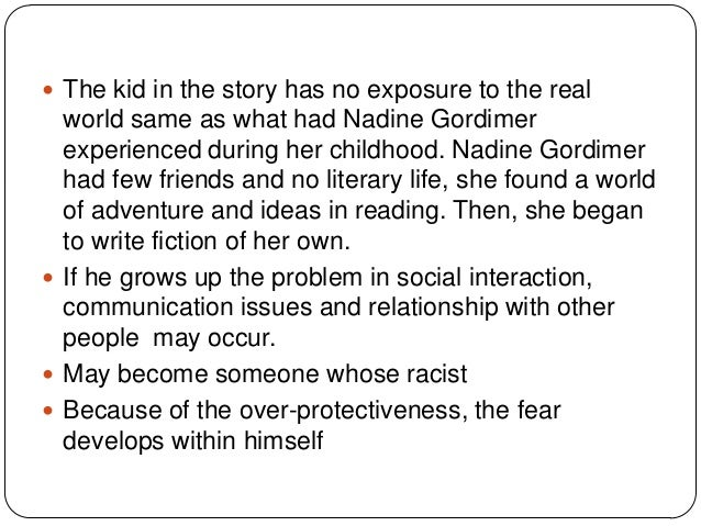 once upon a time nadine gordimer thesis statement