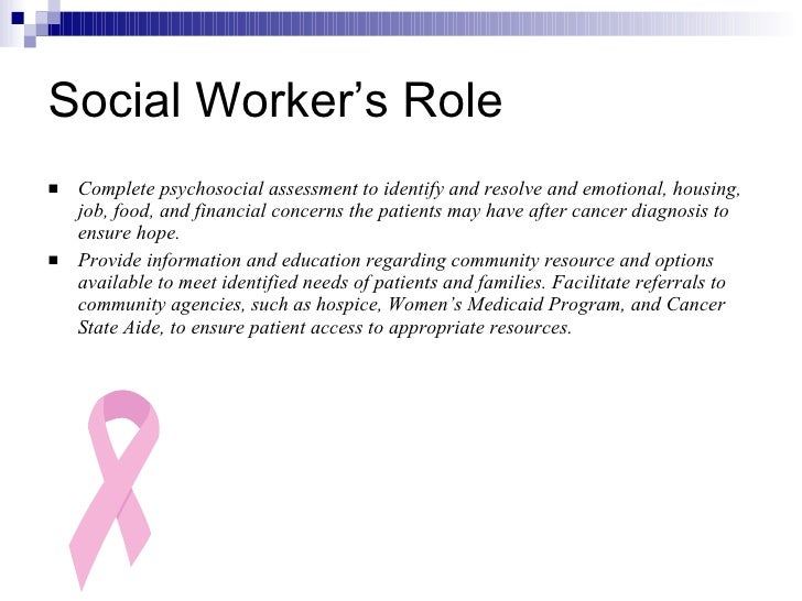 role of a social work